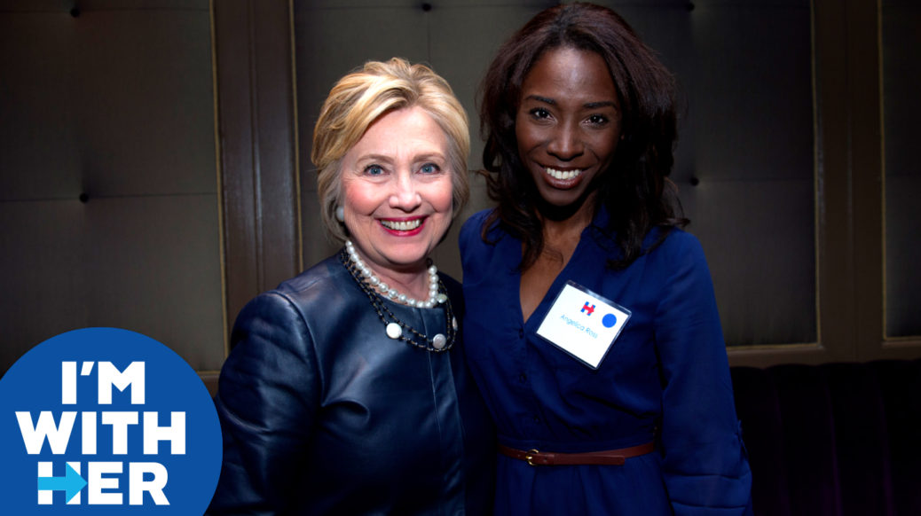 Angelica Ross and Hillary Clinton
